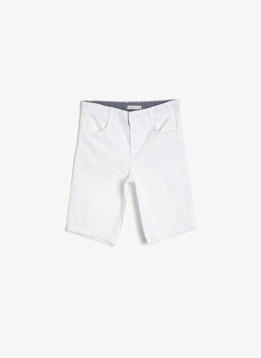 Koton Kids Cep Detayli Sort Beyaz